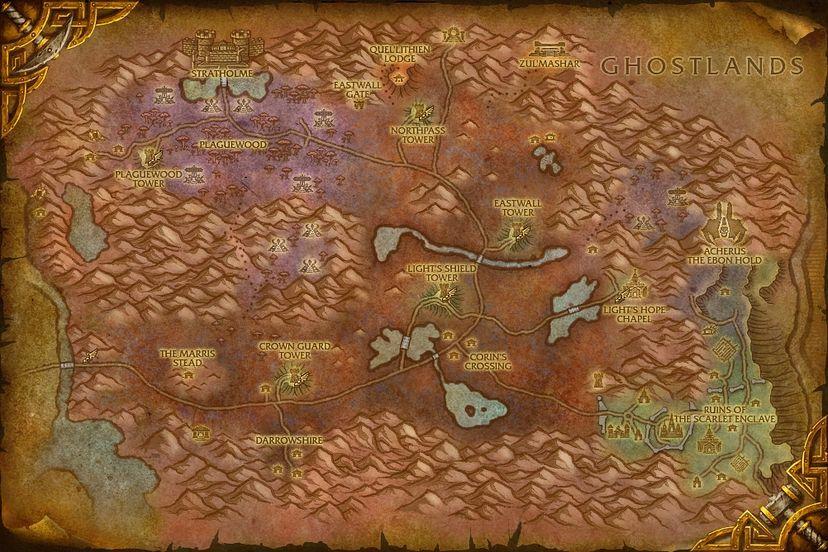 The Undercroft, Eastern Plaguelands Map - World of Warcraft: Cataclysm