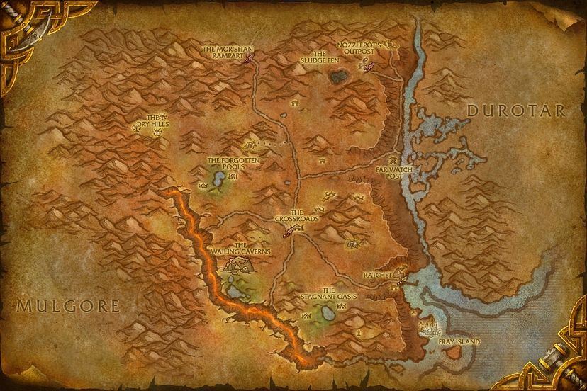 The merchant coast northern barrens map world of warcraft cataclysm northern barrens gumiabroncs Images