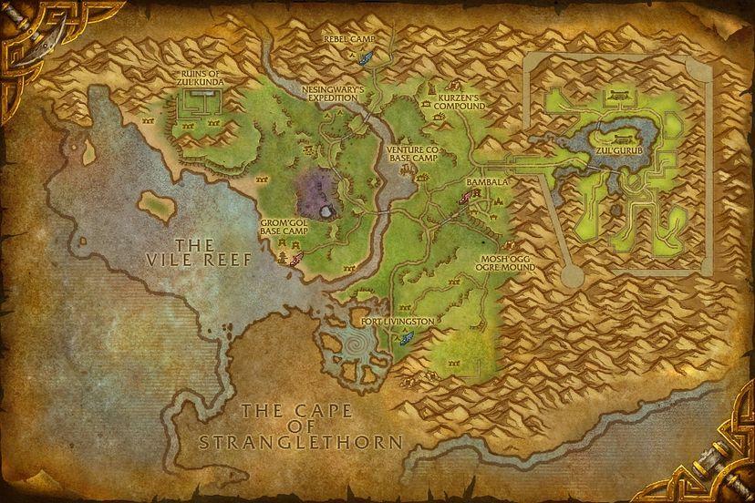 Rebel camp northern stranglethorn map world of warcraft cataclysm northern stranglethorn gumiabroncs Images
