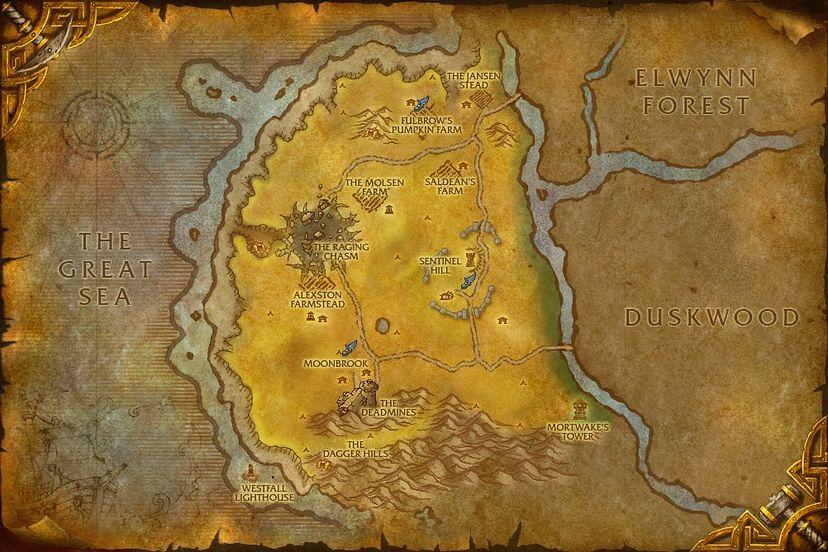 Sentinel hill westfall map world of warcraft cataclysm westfall gumiabroncs Choice Image