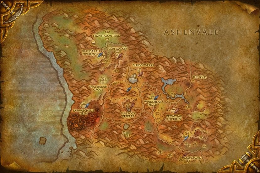 Farwatchers glen stonetalon mountains map world of warcraft stonetalon mountains gumiabroncs Gallery