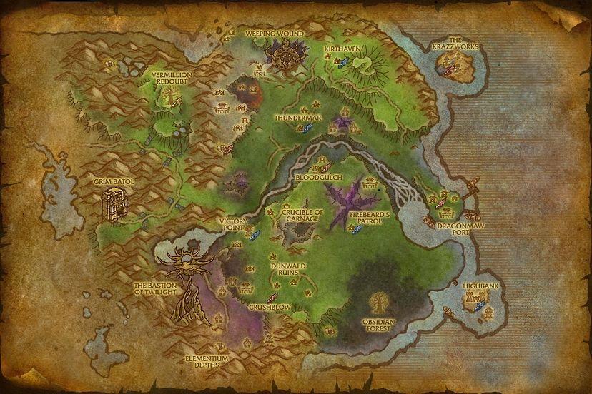 Ruins of drakgor twilight highlands map world of warcraft cataclysm twilight highlands gumiabroncs Image collections