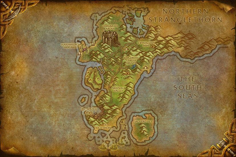 Baron revilgaz the cape of stranglethorn map world of warcraft the cape of stranglethorn gumiabroncs Choice Image