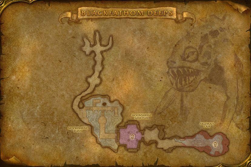 Twilight Lord Kelris, Blackfathom Deeps Map - World of