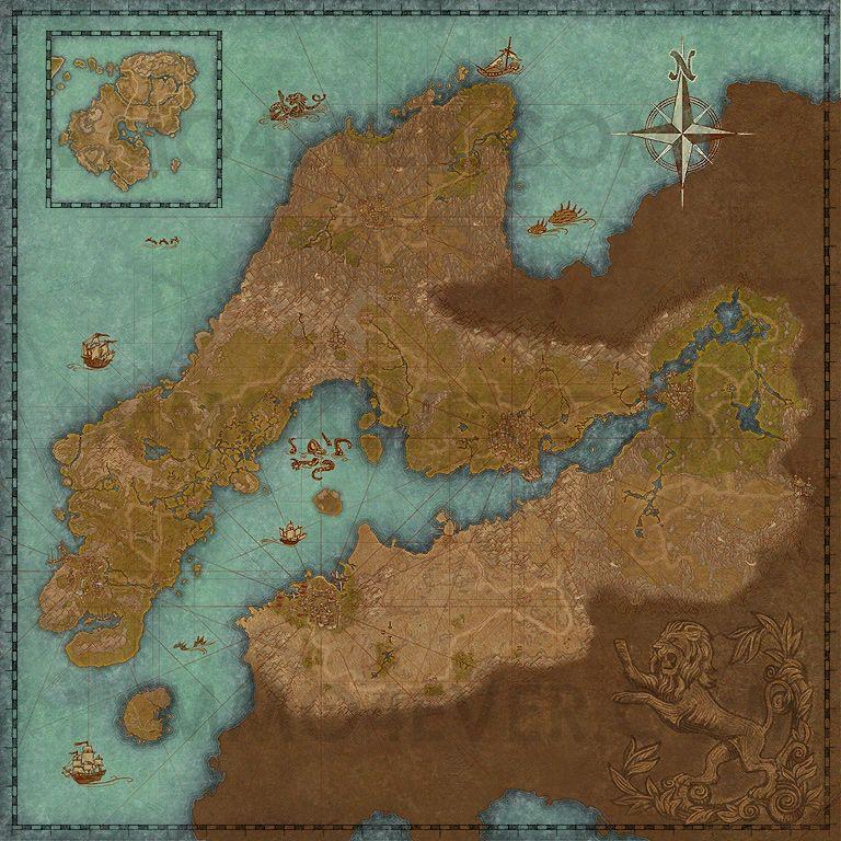 Daggerfall Covenant Map The Elder Scrolls Online Maps
