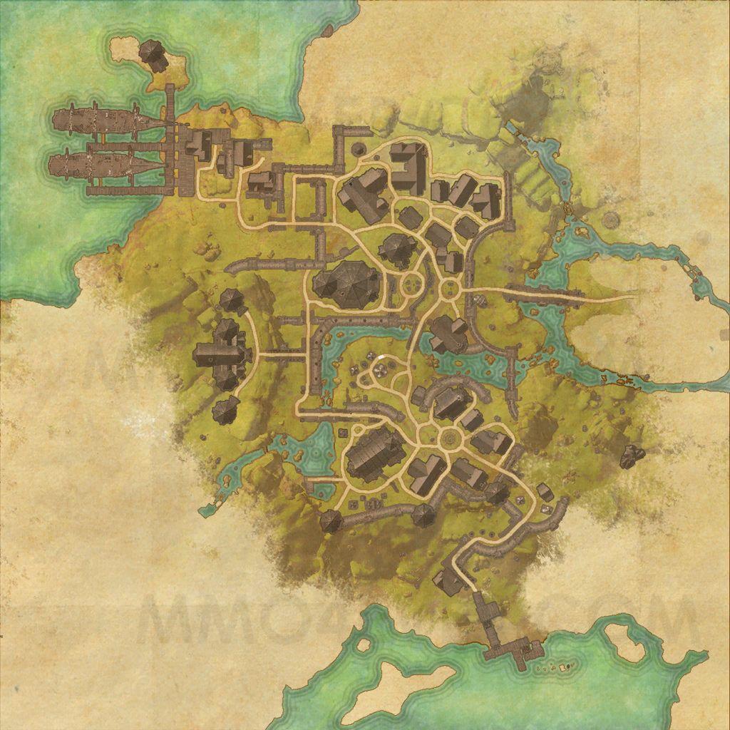 Daggerfall - Map - The Elder Scrolls Online Maps