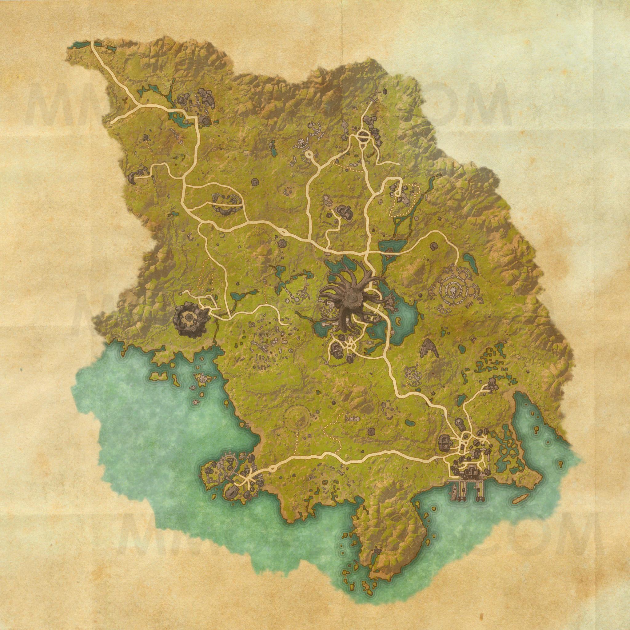 Grahtwood Map The Elder Scrolls Online Maps