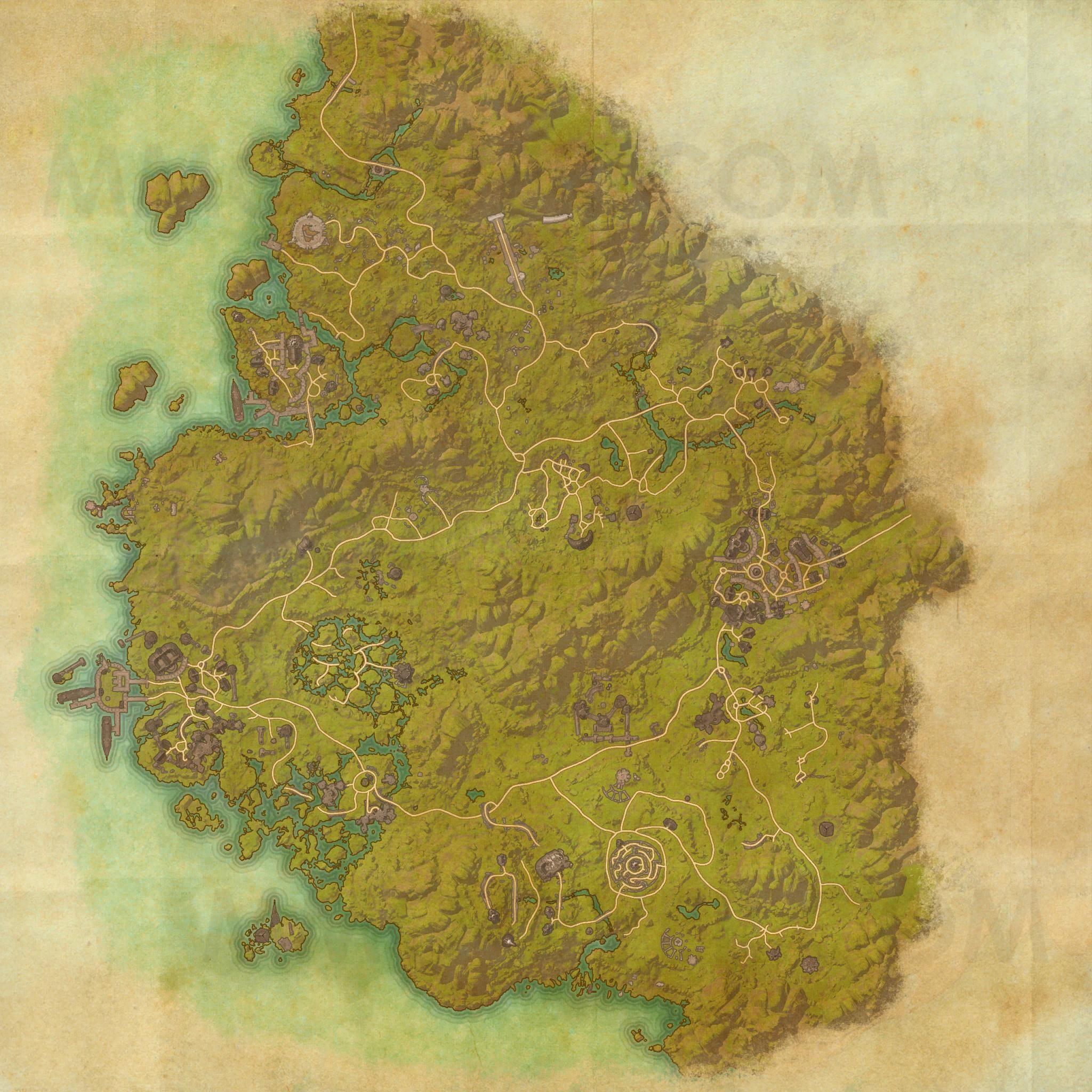 Greenshade Map The Elder Scrolls Online Maps