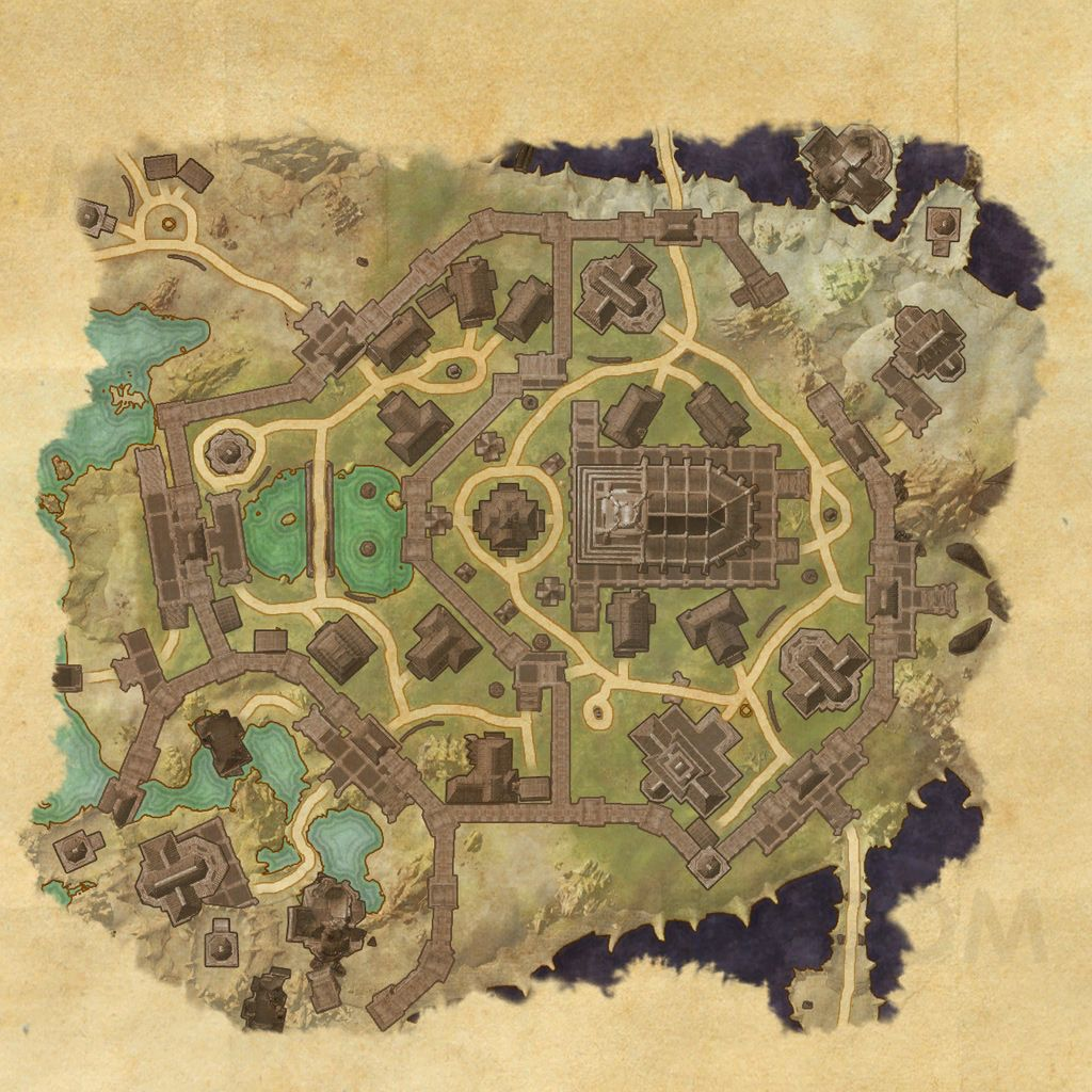 The Hollow City - Map - The Elder Scrolls Online Maps