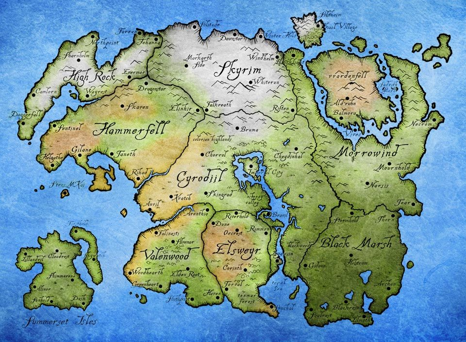 The Elder Scrolls Online Maps