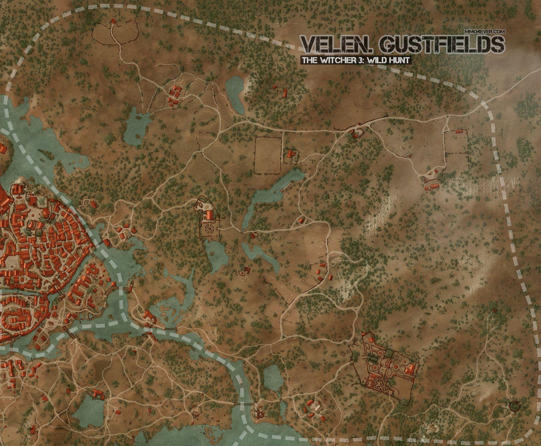 Witcher 3 Velen Karte.Novigrad Gustfields Map The Witcher 3 Wild Hunt Maps