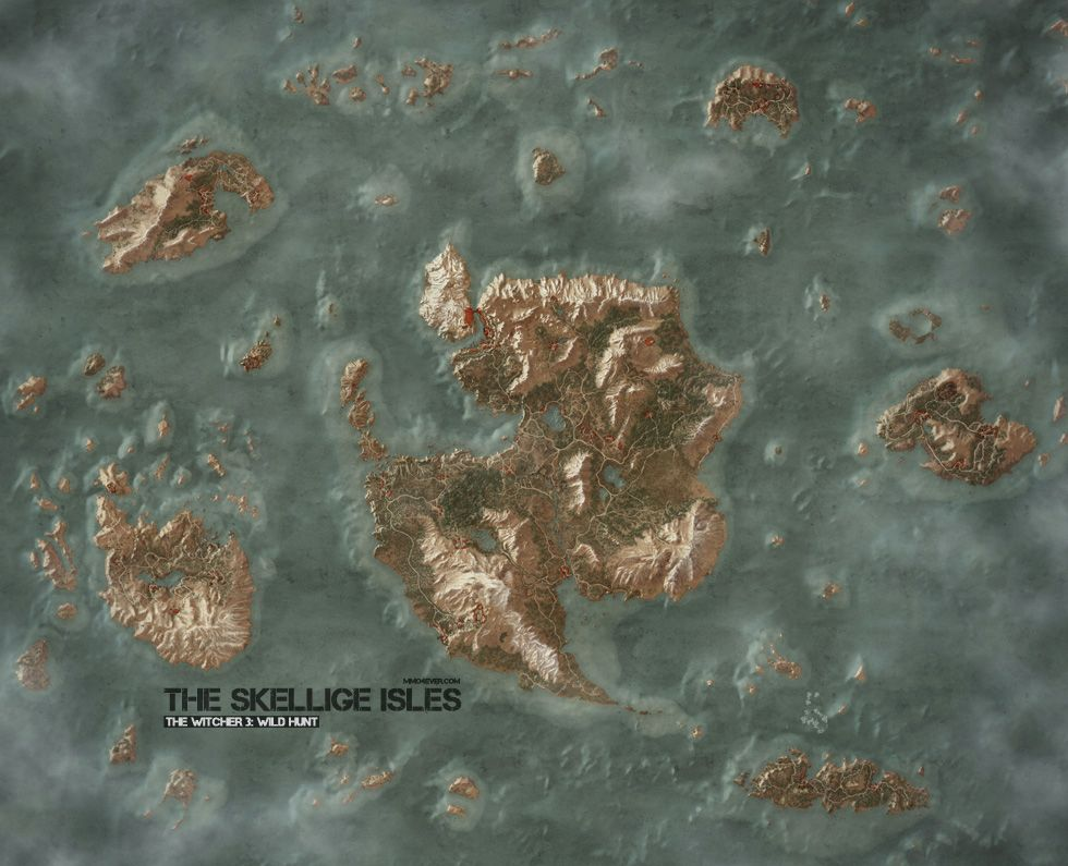 The Skellige Isles Map   The Witcher 3: Wild Hunt Maps & Quests