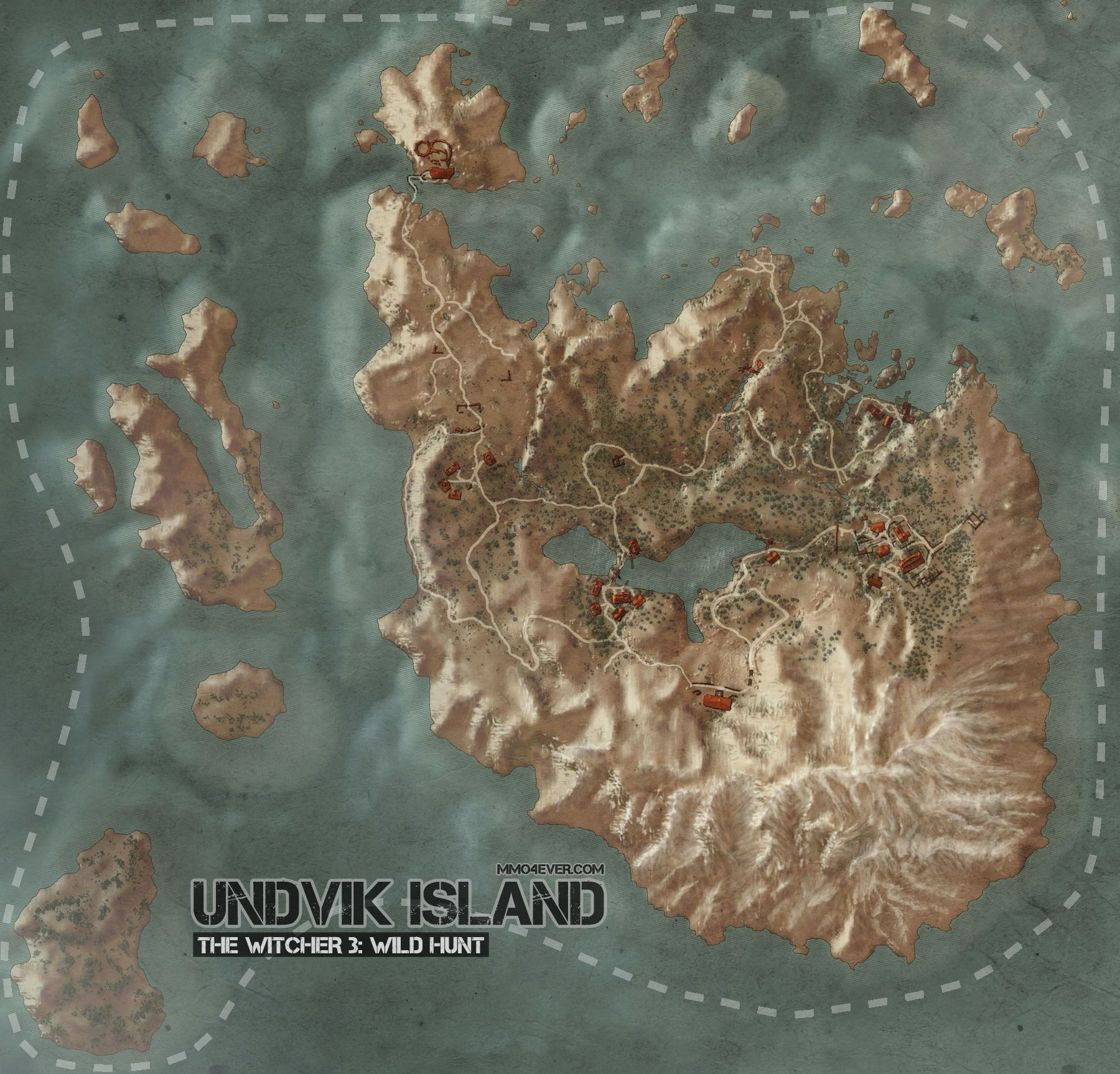 Undvik Map   The Witcher 3: Wild Hunt Maps & Quests