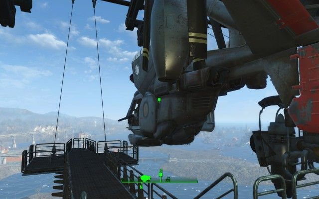 Board the Vertibird Gunship