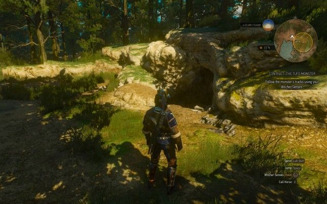 Follow the monster's tracks using your Witcher Senses.